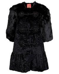 Manoush | Black Astrakan Fur Coat | Lyst