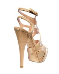Alejandro Ingelmo | Beige 140mm Patent Overlayed Suede Cage Sandal | Lyst