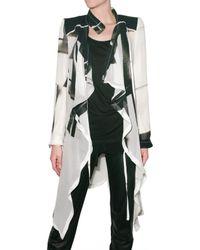 Ann Demeulemeester - Black Printed Georgette Coat - Lyst
