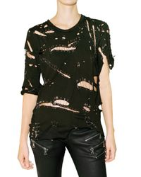 Balmain | Black Safety-pin Cotton T-shirt | Lyst