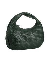 Bottega Veneta | Bottle Green Woven Leather Large Hobo | Lyst