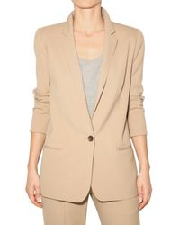 Chloé | Natural Stretch Wool Cloth Jacket | Lyst