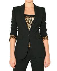 Dolce & Gabbana - Black Leopard Lining Lightweight Wool Jacket - Lyst