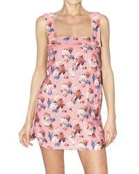 Dolce & Gabbana | Pink Ortensie Linen Canvas Dress | Lyst