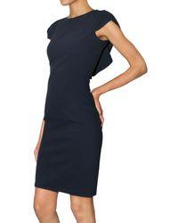 DSquared² - Blue Cotton Piquet Back Voulant Dress - Lyst