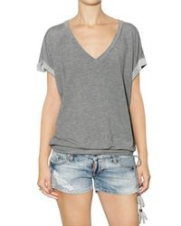 DSquared² | Gray Viscose Thin Fleece T-shirt | Lyst