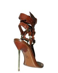 Emilio Pucci - Brown 120mm Criss Cross Ankle Thong Sandals - Lyst