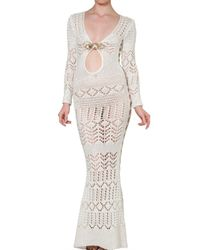 Emilio Pucci | White Long Crochet Dress | Lyst