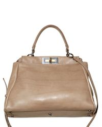 Fendi | Natural Peek A Boo Large Python Top Handle | Lyst