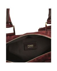 Fendi - Red Zucca Canvas Chef Top Handle Bag - Lyst