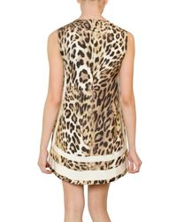 Giambattista Valli - Multicolor Shantung Leopard-print Shift - Lyst