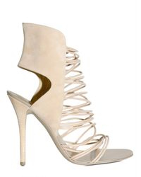 Giuseppe Zanotti | Natural 110mm Nappa Multi String Suede Sandals | Lyst
