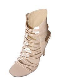 Giuseppe Zanotti | Natural 110mm Nappa Multi String Suede Sandals | Lyst