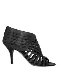 Givenchy | Black 80 Mm Woven Calfskin Thong Sandals | Lyst