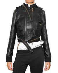 Givenchy - Black Multi Zip Leather Jacket - Lyst