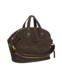 Givenchy | Brown Calfskin Suede Nightingale Medium Satchel | Lyst