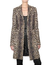 Givenchy | Multicolor Leopard Cady Coat | Lyst