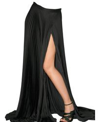Haider Ackermann | Black Satin Pleated Skirt | Lyst