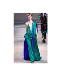 Haider Ackermann - Green Silk Satin Top - Lyst