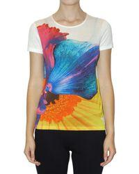 Jil Sander | Multicolor Floral-print Cotton T-shirt | Lyst