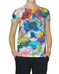 Jil Sander | Multicolor Flower Printed Jersey T-shirt | Lyst