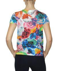Jil Sander   Multicolor Flower Printed Jersey T-shirt   Lyst