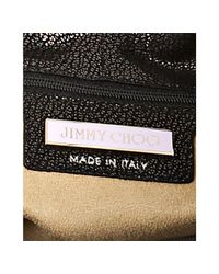 Jimmy Choo - Black Gunmetal Perforated Metallic Leather Bree Large Shoulder Bag - Lyst