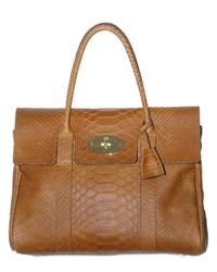 Mulberry | Brown Oak Silky Snake Bayswater | Lyst