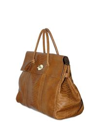 Mulberry - Brown Silky Snake Print Piccadilly Top Handle - Lyst