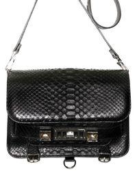Proenza Schouler | Black Ps11 Shiny Python Shoulder Bag | Lyst