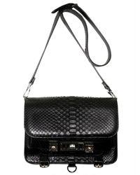 Proenza Schouler - Black Ps11 Shiny Python Shoulder Bag - Lyst