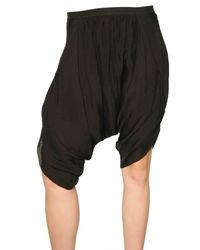 Rick Owens | Black Gathered Harem Culottes | Lyst