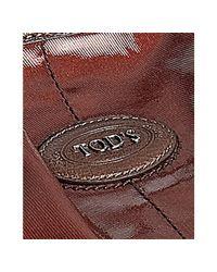 Tod's - Brown Bordeaux Coated Canvas G-bag Media Shoulder Bag - Lyst