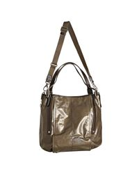Tod's - Brown Coated Twill G-bag Easy Grande Tote Bag - Lyst