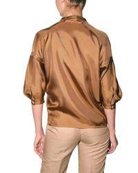 Viktor & Rolf | Brown Silk Twill Shirt | Lyst