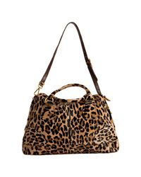 Prada - Multicolor Sand Leopard Print ? Bauletto Bowling Bag - Lyst