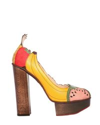 Charlotte Olympia | Multicolor Suede & Leather Fruit Covered Pumps | Lyst