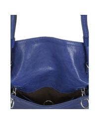 Chloé - Blue Pacific Sheepskin Leather Patent Stripe Crossbody Bag - Lyst