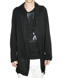 Ann Demeulemeester | Black Cashmere Blend Knit Cardigan Sweater for Men | Lyst