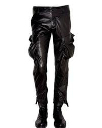 Ann Demeulemeester | Black Multi Pocket Leather Trousers for Men | Lyst