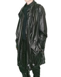 Ann Demeulemeester | Black Nylon Parka Rain Coat for Men | Lyst