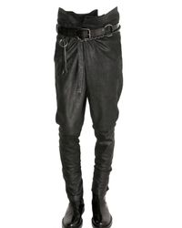 Ann Demeulemeester | Black Wrapped Vintaged Leather Trousers for Men | Lyst