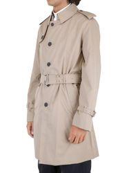 Aquascutum - Natural Gabardine Trench Coat for Men - Lyst