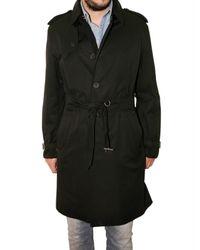 Aquascutum | Black Gabardine Trench Coat for Men | Lyst