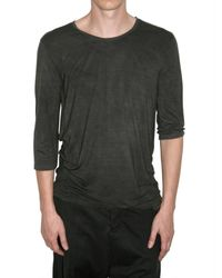Attachment | Gray 3/4 Sleeved Rayon Jersey T-shirt for Men | Lyst