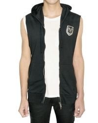 Balmain | Black Cotton Hooded Sleeveless Sweater for Men | Lyst