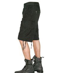 Balmain - Black Biker Short for Men - Lyst