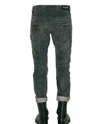 Balmain - Black Regular Fit Biker Jeans for Men - Lyst