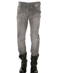 Balmain | Black Stitched Knee Washed Denim Jeans for Men | Lyst