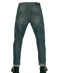 Balmain - Blue Distressed Denim Slim Fit Jeans for Men - Lyst